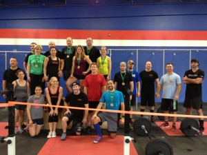 Competitors at the World Wide Wod Comp held this past Saturday.